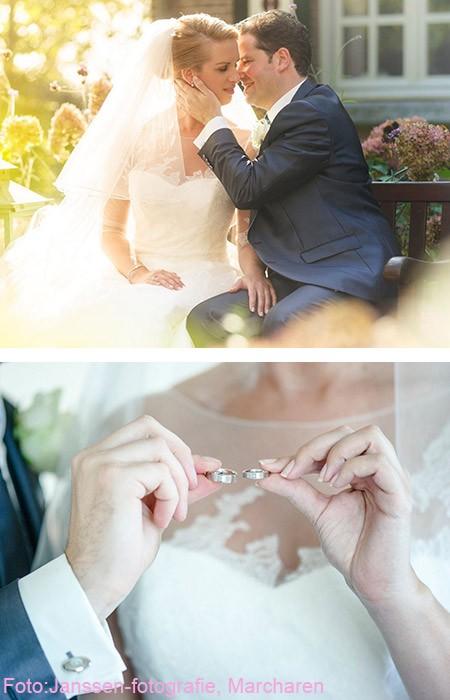 De foto van de trouwdag van Bas en Manon waarmee zij meedoen aan de winaktie win gratis trouwringen van trouwringen-Heusden.nl