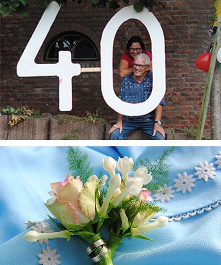 Cees en Dicky kochten nieuwe trouwringen toen ze 40 jaar getrouwd waren bij trouwringen-heusden.nl van juwlelier en goudsmid Sylvester Andriessen