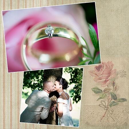 Met deze mooie foto van de geelgouden trouwringen met briljant doen Cees en Mathea mee aan de winaktie gratis trouwringen van trouwringen-Heusden.nl