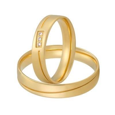 aller spanninga 138 geelgouden trouwringen met briljant