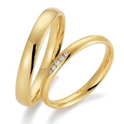 gerstner 28501 smalle trouwringen geelgouden trouwringen in de dames trouwring met briljant