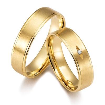 duo of love 8339 geelgouden trouwringen herenring gratis
