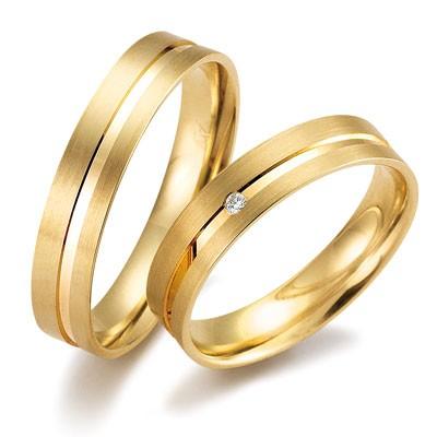 duo of love 8341 geelgouden trouwringen herenring gratis