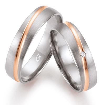 duo of love 8345 trouwringen bicolor herenring gratis aktie