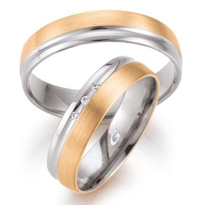 duo of love 8346 trouwringen bicolor trouwringen herenring gratis aktie